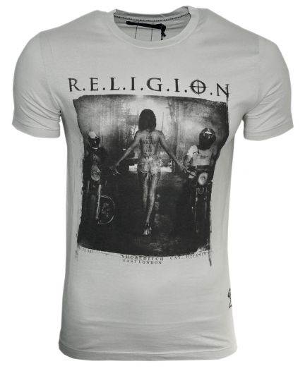 RELIGION Clothing Herren T-Shirt TO THE VICTOR