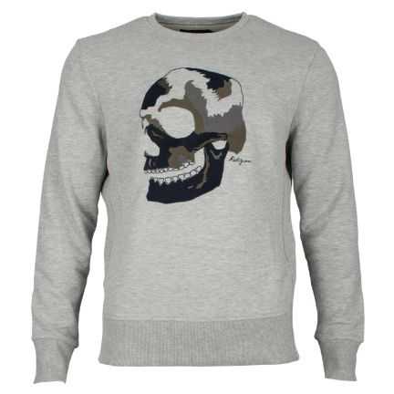 RELIGION Clothing Herren Sweatshirt BIG SKULL EMBRO
